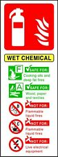 Fire Extinguisher Wet Chemical ID sticker warning sign self adhesive vinyl