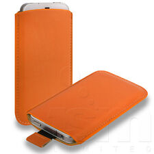 12 COLOURS CUSTOM FITTED SOFT PU LEATHER POUCH CASE FOR VARIOUS MOBILE PHONES