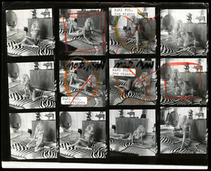 "Bunny Yeager 8""x10"" Contact Sheet Photo Hand Signed 12 Frames Merritt Lee Mod NR"