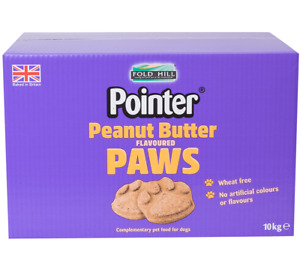 POINTER PEANUT BUTTER PAWS fold hill dog biscuits canine foods treats bp rewards