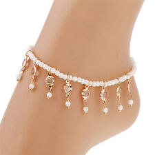 Stylish Beads Beaded stretch Crystal tassel Anklet Chain Elegant Foot Jewelry 0G