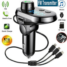 Wireless Bluetooth Car Fm Transmitter Mp3 Player Radio Adapter Kit Usb Charger