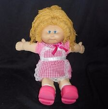 VINTAGE CABBAGE PATCH KIDS LONG BLONDE HAIR STUFFED ANIMAL PLUSH TOY PINK OUTFIT