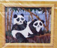 The Creative Circle #1425 Peking Pandas Bamboo Animal Needlepoint Longstitch NEW
