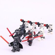 10Pcs Star Wars Darth Vader Darth Maul StormTroopers Minifigures fit Lego