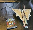 Vintage 1990 New Bright F-14 Tomcat Corded RC Fighter Jet Tested & Works