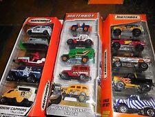 3 LOT MATCHBOX 5 CAR PACKS MOUNTAIN ADVENTURE & RUGGED RIDERS & SNOW CAPPERS
