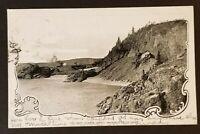 1904 Coal Shute Jackfish Ontario Canada England CPR Railroad RPPC Postcard Cover
