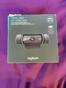 Logitech C920s Pro HD 1080p 30fps Webcam with Privacy Shutter Complete In Box