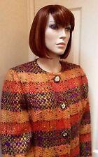 1980s Bill Blass Nubby Wool And Metallic Skirt Suit UK 12-14
