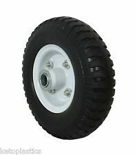 2.50 - 4 /220 x 60 Puncture Proof Sack Truck Jockey Wheel Trolley Cart 12mm BORE