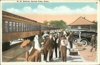 Sound View CT RR Train Station Depot c1920 Postcard