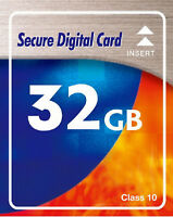 32GB SDHC class 10 Speicherkarte für Sony Cybershot DSC W320