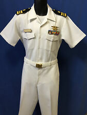 USN DRESS LCDR  TOP GUN  WHITE UNIFORM+RIBBONS+ INSIGNIA. MOST SIZES