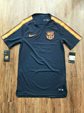 Nike FC Barcelona Fussball Trainingsshirt   Neu   Dunkelblau   Größe S