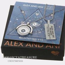 Authentic Alex and Ani Meditating Eye Shiny Silver Expandable Necklace CBD