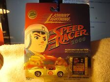 SPEED RACER RACE VERSION ~ JOHNNY LIGHTNING CELL #6 MACH 5 ~ 2000 PLAYING MANTIS