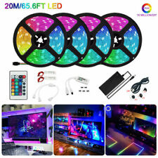 65ft 1200LED Alexa Smart Home WIFI Wireless RGB Tape Strip Lamp Neon Light Kit