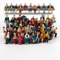 50pcs HO Scale 1:87 Mix Painted Model People Train Park Street Passenger Figures