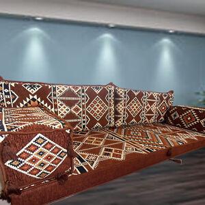 FLOOR Level Sofa | BOHEMIAN Kilim Cushions | MAJLIS Three Seater Floor Sofa Set
