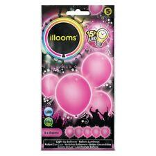 5 Leuchtende LED Luftballons Pink   Rosa Party-Deko Geburtstag Hochzeit Ballon