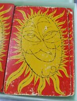 Playing Cards Distressed Sun Hippie Retro Chic Industrial Ideal Tool Mfg Chicago