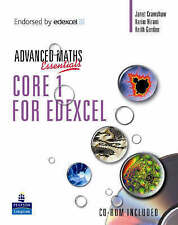 Good, A Level Maths Essentials Core 1 for Edexcel Book, A Book and CD-ROM (Edexc