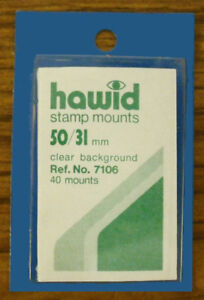 2 PIECES OF HAWID MOUNTS 50 X  31MM - CLEAR   FREE SHIPPING      #HAW-5031C