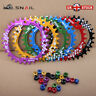 UK Single 30T Round 6 Colors Narrow Wide Chainring 104bcd MTB Road Bike bolts