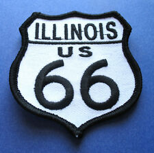 LEGENDARY ROUTE 66 ILLINOIS U.S. HIGHWAY BIKER IRON ON PATCH