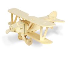 Holz-Bausatz Flugzeug für Kinder Doppeldecker Lernspielzeug