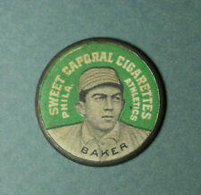 1909 PX7 disc HOME RUN BAKER (HOF) Domino back *great looking condition* DD17