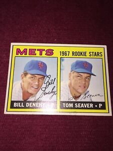 1967 ROOKIE High No 585 TOM SEAVER New York Mets Centered Nice Corners & Gloss +