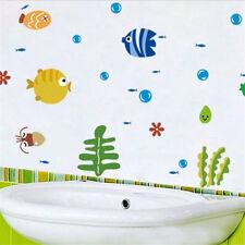 Ocean Sea Fish PVC Removable Mural Wall Sticker Kids Room Bath Art Decor Hot