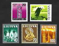 Lithuania 1991 Liberty, Independence + Religious Symbols complete set … MNH **
