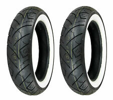 Shinko 100/90-19 & 170/80-15 777 HD White Wall Tires VLX600 & V-Star 650 Custom