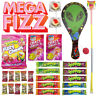 Mega Fizz Assorted 6 Showbags Popping Candy Sherbet Fizzy Sweets Bulk Lollies