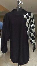 VERSACE 1980's Sweater Large Unisex Men/Women Sequins Embellished Sleeve AMAZING