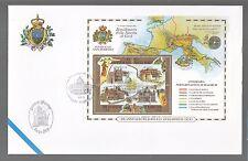 SAN MARINO BUSTA FDC 2001 ANNO SANTO BIMILLENARIO NASCITA GESU' Annullo SPECIALE