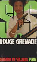 Livre de poche policier SAS rouge grenade n°67 G. de Villiers book