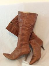 Next Brown Knee High Leather Boots Size 6.5