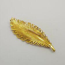 9ct Yellow Gold Leaf Brooch Hallmarked