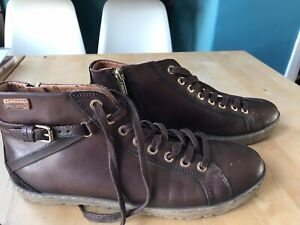 Pikolinos Women's Brown Leather Ankle Boots Size 7 UK (41 EU)