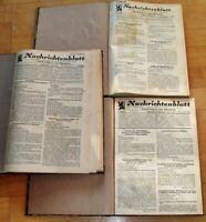 3x Nachrichtenblatt Oberpfalz Niederbayern Nachkrieg 1949 1950 1951 Bayern Regie