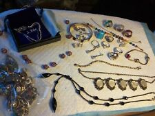 LARGE LOT OF MODERN+VINTAGE STERLING SILVER 925 JEWELLERY INC RINGS/DIAMONIQUE.