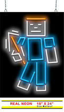 "Block Boy Neon Sign | Jantec | 18"" X 24"" 