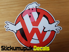 VW Ghostbusters Gracioso STICKER/DECAL Coche Furgoneta Volkswagen Escarabajo Dub T5 Camper Golf