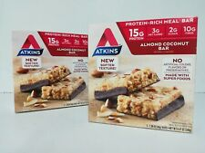 Lot of 2 Atkins Almond Coconut Bar Natural Flavored Protein Rich Bar (10 bars)