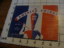 BAND BOOKS: AMERICA SWINGS 3rd trombone (bass clef) 17 songs