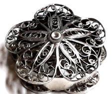 Vintage Silber Vinaigrette  Duftdose Riechdose Filigran Friesland um 1800